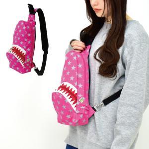 ボディバッグ レディース メンズ サメ シャーク jaws 鮫 スター 星柄 人気 ブランド ボディ バッグ ボディバッグ メール便対応|actionbag