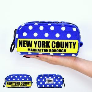 ポーチ 小物入れ ケース 筆箱 ペンケース ニューヨーク NEW YORK ドット 水玉 化粧ポーチ ポーチ メール便対応 actionbag