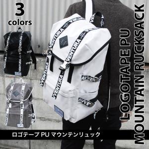 リュック リュックサック 人気 レディース おしゃれ avventura ロゴテープ PU マウンテン リュック レディース リュックサック アウトドア|actionbag