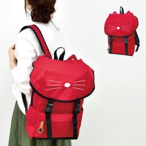 リュック リュックサック レディース 猫 ネコ 人気 デイパック ナイロン キッズ 通学 おしゃれ|actionbag