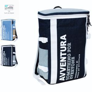リュック AVVENTURA デニム×ヘザーナイロン ボックス リュックサック メンズ レディース アウトドア|actionbag