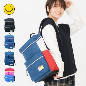 リュックサック スマイル イン ライフ スクエア リュックサック バックパック メンズ レディース 鞄 通勤 通学 A4 軽量|actionbag