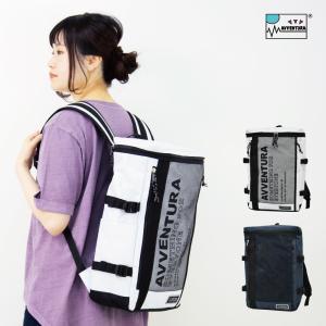 リュックサック MESH POCKET NYLON RUCK SACK( メッシュポケットボックス リュックサック ) メンズ レディース ユニセックス ボックスタイプ AVVENTURA|actionbag