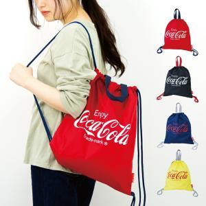 リュック リュックサック コカ・コーラ ナイロン ナップサック Coca Cola ブランド メール便対応|actionbag