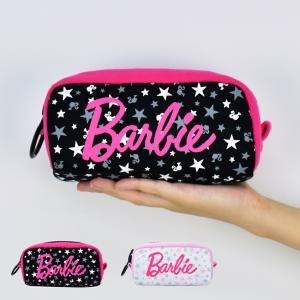 ペンケース Barbie メガジップポーチ ペンポーチ 筆箱 ガーリー レディース ドット ピンク actionbag