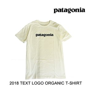2018 PATAGONIA パタゴニア Tシャツ TEXT LOGO ORGANIC T-SHIRT WHI WHITE