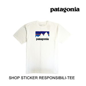 PATAGONIA パタゴニア Tシャツ SHOP STICKER RESPONSIBILI-TEE WHI WHITE