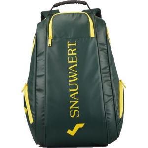 スノワートのラケットバッグシリーズにバックパックが登場! スノワートカラーのおしゃれなグリーンと洗練...
