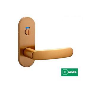 美和ロック MIWA レバーハンドル ZLT90111−8 表示錠 アルミブロンズ(CB)/アルミゴールド(GD) 室内用 小判座 チューブラ錠 activekusakabe