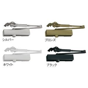 リョービ 取替用ドアクローザー S-202P パラレル   ドア巾900mm以下、ストップ装置付(ス...