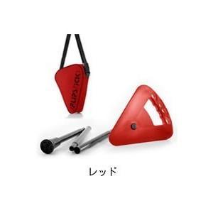 折りたたみ椅子 アウトドア ゴルフ観戦に最適な杖にもなりコンパクトに持ち運べる一本足の折りたたみイス Flipstick-フリップスティック- レッド|actlive2