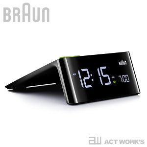 BRAUN BNC016 目覚まし時計 電波時計 ブラウン 超人気 デザイン雑貨 置き時計 アラームクロック デジタル 買物