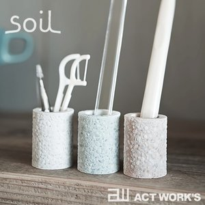 soil 歯ブラシスタンドミニ ソイル ホルダー 珪藻土 吸水性 吸湿 調湿性 石動 イスルギ