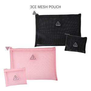 3CE コスメ メッシュ ポーチ 2色  STYLENANDA MESH POUCH