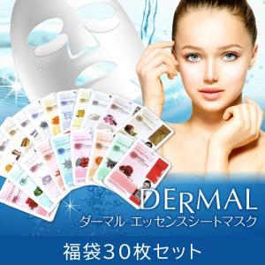 ダーマル シートマスク 30枚セット フェイス パック マスク 韓国コスメ 人気 DERMAL de...