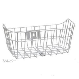 PALMY(パルミー)ATB-ALW アルミワイヤーバスケット(ワイドタイプ)フロントバスケット 前かごのみ /シルバー/138-00011|ad-cycle