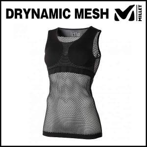 MILLET (ミレー) LD DRYNAMIC MESH TANK TOP (ドライナミック メッシュ タンクトップ) (ブラック)|ad-cycle