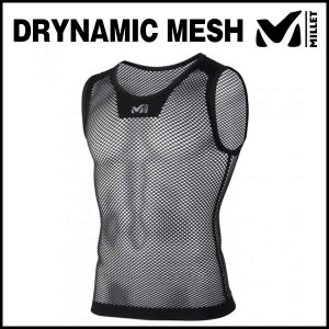 MILLET (ミレー) DRYNAMIC MESH NS CREW (ドライナミック メッシュ NS クルー) (ブラック)|ad-cycle