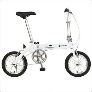 折り畳み自転車 RENAULT LIGHT8 14インチ AL折りたたみバイク ホワイト  ルノー|ad-cycle