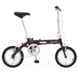 折り畳み自転車 RENAULT LIGHT8 14インチ AL折りたたみバイク ブラウン  ルノー|ad-cycle