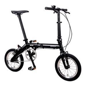 送料無料 折り畳み自転車 RENAULT BLACK TITAN 6  14インチ コンパクト折りたたみバイク ブラック (TITAN-FDB140 ) ルノー|ad-cycle
