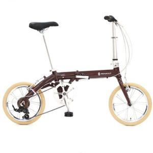 折り畳み自転車 RENAULT LIGHT9 Nouveau 16インチ AL折りたたみバイク  ブラウン ルノー(AL-FDB166) |ad-cycle
