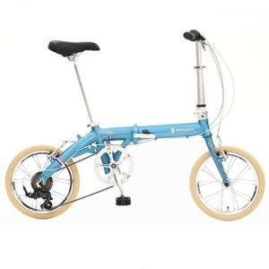 折り畳み自転車 RENAULT LIGHT9 Nouveau 16インチ AL折りたたみバイク ブルー ルノー(AL-FDB166) |ad-cycle