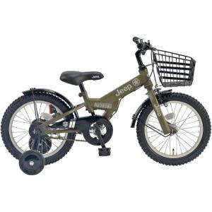 幼児用自転車 JEEP JE-18G (オリーブ) ジープ JE 18 2019 子供用自転車 キッズバイク|ad-cycle