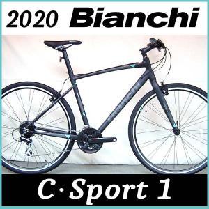 ビアンキ Bianchi クロスバイク C スポーツ1 2020年モデル (ブラック) Bianchi C・SPORT 1|ad-cycle