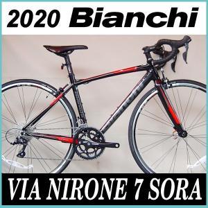 ビアンキ Bianchi ロードバイク ヴィア ニローネ ソラ 2020年モデル (ブラック/Graph-Red) Bianchi VIA NIRONE 7 SORA|ad-cycle