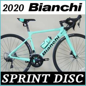 ビアンキ Bianchi ロードバイク スプリント ディスク 105 2020年モデル (チェレステ) Bianchi SPRINT DISC 105|ad-cycle