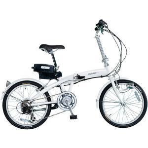 ミムゴ スイスイ 20インチ電動アシスト折り畳み自転車 6段変速 (ホワイト) BM-A30WH MIMUGO SUISUI フォールディングバイク  365 【送料無料・メーカー直送・代|ad-cycle