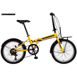折り畳み自転車 HUMMER FDB207 TANK (イエロー) ハマー FDB 207 タンク FOLDING BIKE フォールディングバイク|ad-cycle