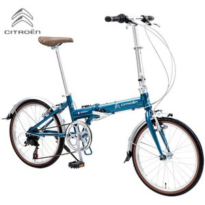折り畳み自転車 CITROEN AL-FDB207 (ペッパーブルー) シトロエン AL FDB 207 フォールディングバイク|ad-cycle