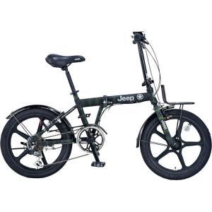 折りたたみ自転車 JEEP JE-206GLE (アーミーグリーン) 限定モデル ジープ JE 206 GLE フォールディングバイク|ad-cycle
