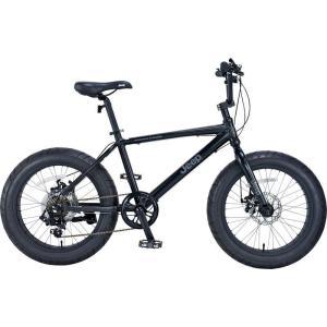 ミニベロ JEEP JE-207FT (ブラック) ジープ JE 207 FT ファットバイク 小径自転車|ad-cycle