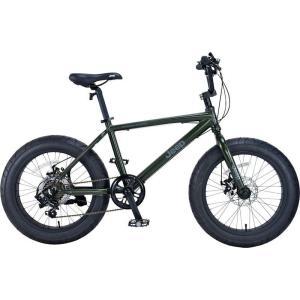 ミニベロ JEEP JE-207FT (オリーブ) ジープ JE 207 FT ファットバイク 小径自転車|ad-cycle