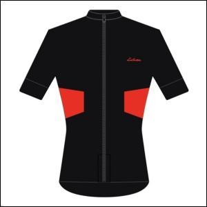 LINTAMAN CYCLING WEAR リンタマン・サイクリングウェア / ADAPT SUMMER JERSEY  ブラック/レッド     Mサイズ ad-cycle