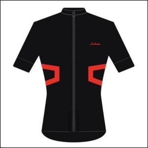 LINTAMAN CYCLING WEAR リンタマン・サイクリングウェア /ADAPT STANDARDJERSEY ブラック/レッド  Sサイズ ad-cycle