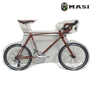 ミニベロ MASI MINI VELO DUE DROP (サスパリラブラウン) 2020 マジィ ミニベロ デュエ ドロップ 小径自転車|ad-cycle