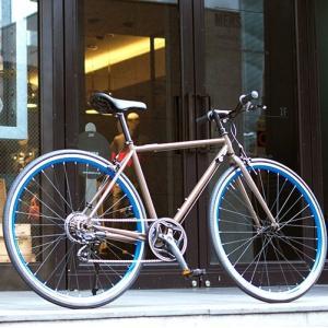 OSSO (オッソ)R310-CR-BR クロスバイク ストリートバイク (ブラウン) |460mm|ad-cycle