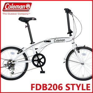 折りたたみ自転車 コールマン FDB206 スタイル (ホワイト) 3363 Coleman  FDB 206 STYLE フォールディングバイク サギサカ SAGISAKA|ad-cycle