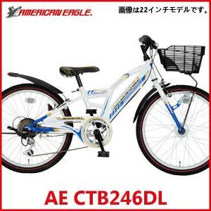 子供用自転車  アメリカンイーグル AE CTB246DL (ホワイト/ブルー) 4269 AMERICAN EAGLE CTB 246 DL ジュニア マウンテン バイク サギサカ SAGISAKA ad-cycle