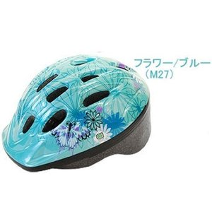 サイクルヘルメット 幼児用 パルミー P-MV12 パルミーキッズ ヘルメット フラワー/ブルー(M27)  【Sale】|ad-cycle