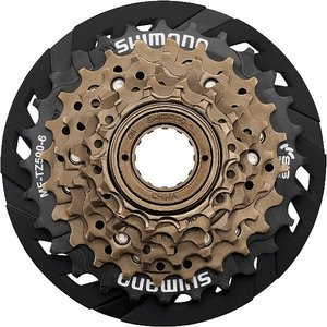 シマノ ターニー MF-TZ500-6-CP ボスフリー スプロケット 14-28T プロテクター付 (X1643) SHIMANO Tourney MF TZ 500 6 CP マルチプルホイール AMFTZ5006428CP|ad-cycle
