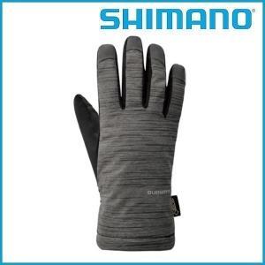 SHIMANO ゴアテックス ウインターグローブ (グレー) シマノ メンズ GORE-TEX サイクル グローブ Mens / Sサイズ |ad-cycle