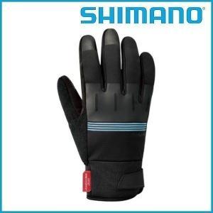SHIMANO Windstopper サーマルリフレクティブグローブ (ブラック/ブルー) シマノ メンズ サイクル グローブ Mens / Mサイズ |ad-cycle