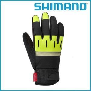SHIMANO Windstopper サーマルリフレクティブグローブ (ネオンイエロー) シマノ メンズ サイクル グローブ Mens / Mサイズ |ad-cycle
