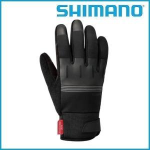 SHIMANO Windstopper サーマルリフレクティブグローブ (ブラック) シマノ メンズ サイクル グローブ Mens / Sサイズ |ad-cycle