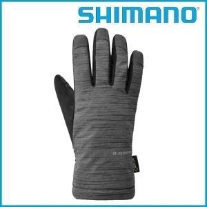 SHIMANO ゴアテックス ウインターグローブ (グレー) シマノ メンズ GORE-TEX サイクル グローブ Mens / Mサイズ  |ad-cycle